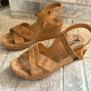 Korks by Kork-Ease Denica Natural Wedges